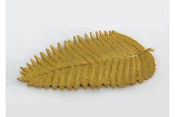 Büyük Yaprak Dekoratif Obje Gold