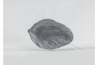 Fitilli Yaprak Dekoratif Obje Gümüş