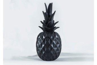 Küçük Ananas Dekoratif Obje Siyah