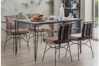 Manavgat Mutfak Masa Takımı 4 Sandalyeli Kahve