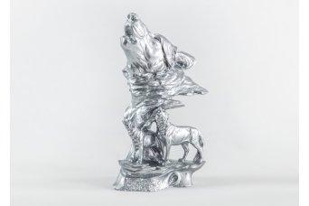 Yavru Kurt Dekoratif Obje Gümüş